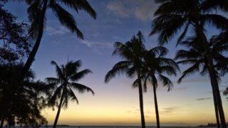 ニューカレドニアの夕焼け